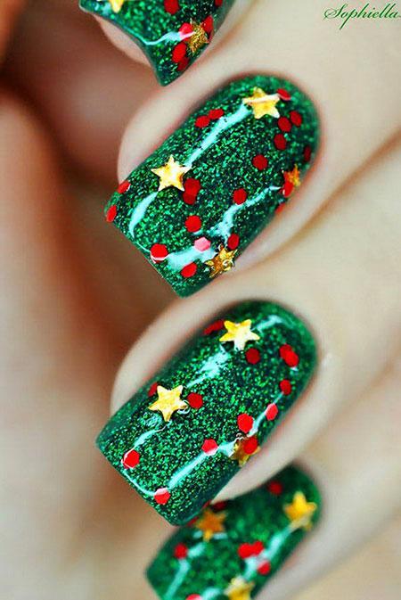Green Nail, Nail, Christmas, Polish, Glitter, Zebra, Xmas