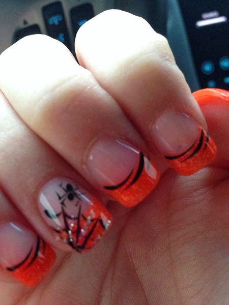 Halloween Nail, Nail, Halloween, Manicure, French, Art