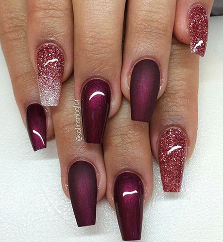 Coffin Nail, Nail, Winter, Coffin, Styles, Shades