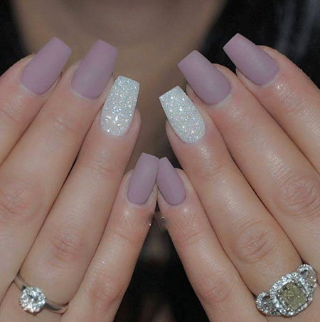 Matte with Glitter, Very, Stars, Pretty, Nail, Matte