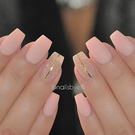Matte Pink Nail - 25 Popular Ring Finger Nail Art Designs - Nail Art Designs 2017