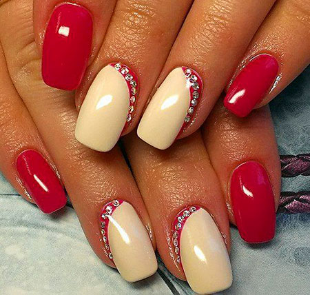 Red Nail, Nail, Manicure, Varnish, Home, Gel, Design, Art, 207