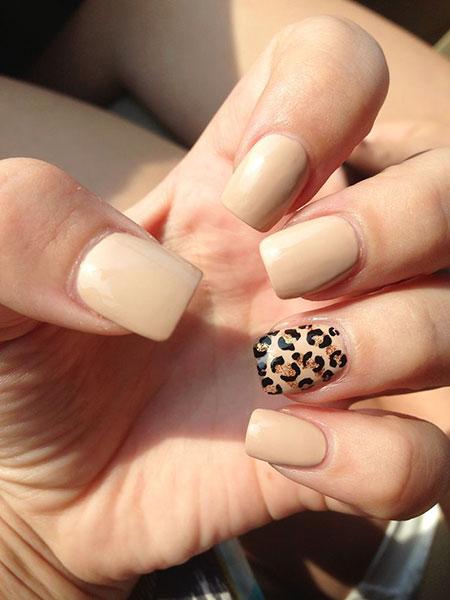 Cheetah Nail Design, Nail, Manicure, Cheetah, Art, Ring - 25 Popular Ring Finger Nail Art Designs - Nail Art Designs 2017