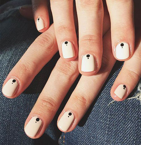 Simple Nail, Nail, Simple, Art, Winter, Spring, Manicure, Fun, Dot