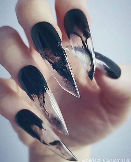 Gothic Nail, Nail, Art, Stiletto, Gothic - 30 Best Stiletto Nail Art Ideas - Nail Art Designs 2017