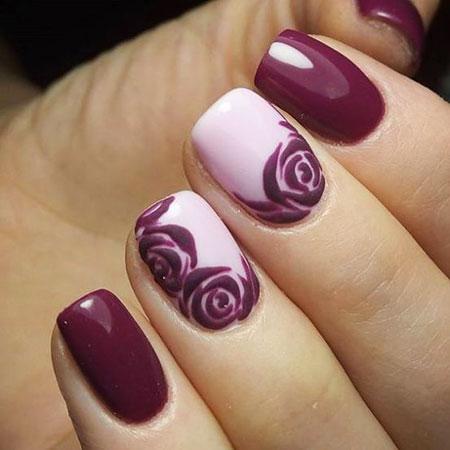 Short Nails, Nail, Design, Art, Violet, Short, Polish
