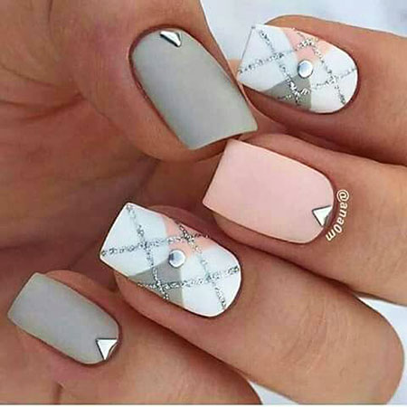 Short Nail, Nail, Art, 207, Winter, Summer, Short, Polish