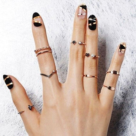 Korean Nail, Nail, Ring, Accessories, 207, Striped, Rings