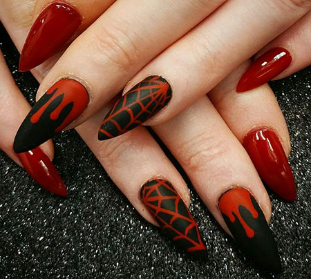 Red Gothic Nail, Nail, Art, Stiletto, Gothic, Galleries, Edgy