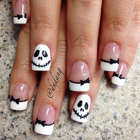 Halloween Nail Art, Nail, Halloween, Art, Skull, Evening