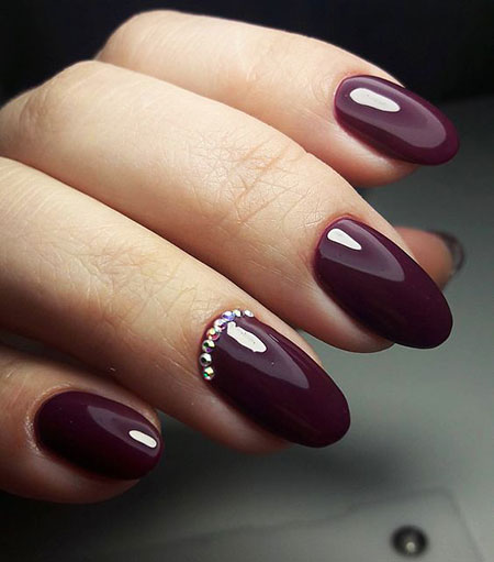 Burgundy Nail, Nail, Manicure, Matte, Little, French, Design