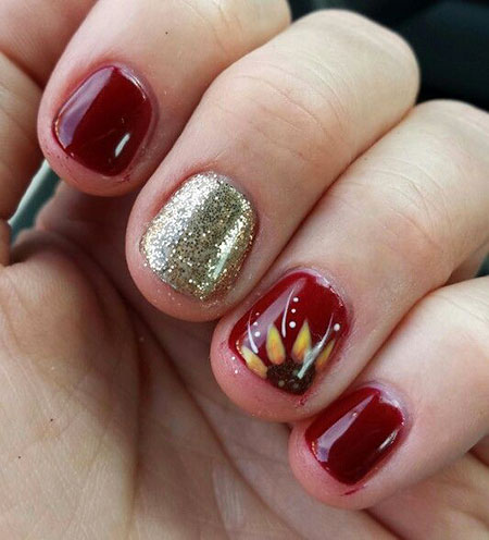 Red Nail, Nail, Sunflower, Christmas, Life, Holidays