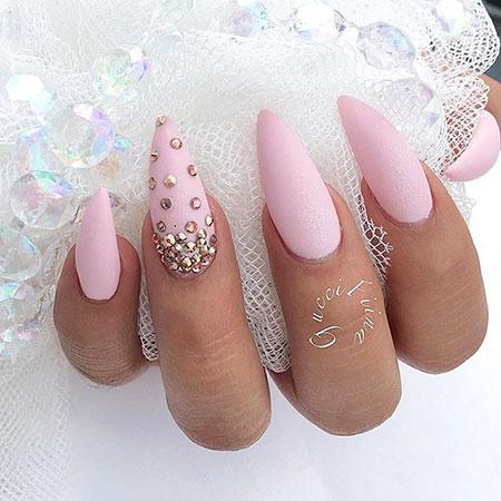 Pink Stiletto Nail, Nail, Pink, Stiletto