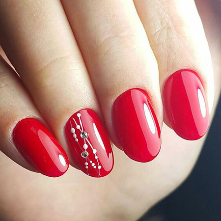 Simple Red Nail, Nail, Simple, Polish, Opi, Essie, Art, 207