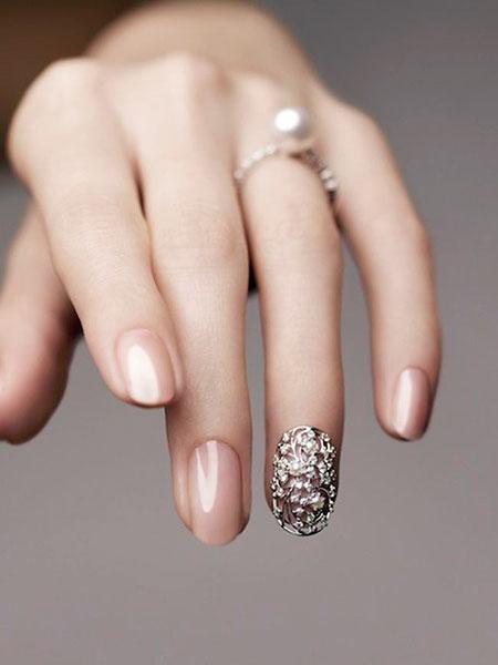 Wedding Nail, Nail, Wedding, Ring, Silver, Pretty