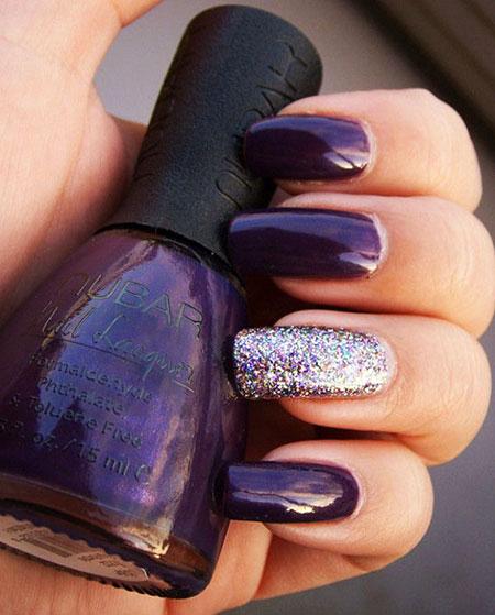 Purple Nail, Nail, Purple, Polish, Opi, Glitter, Glaze
