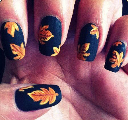 Leaf Nail, Nail, Halloween, Art, Fall, Styles, Leaf, Design, Autumn