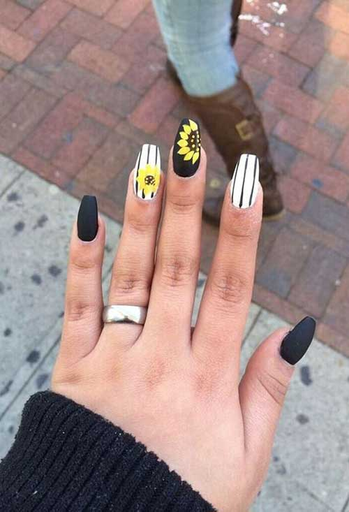 Long Coffin Shape Nail Arts-11