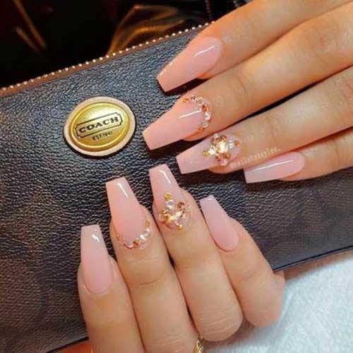 Long Coffin Shape Nail Arts-18