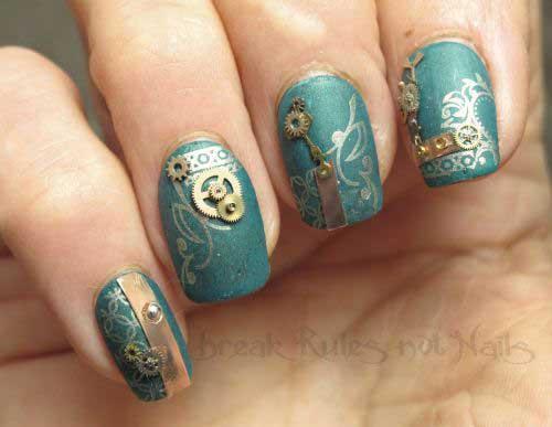 Steampunk Nail Designs-7
