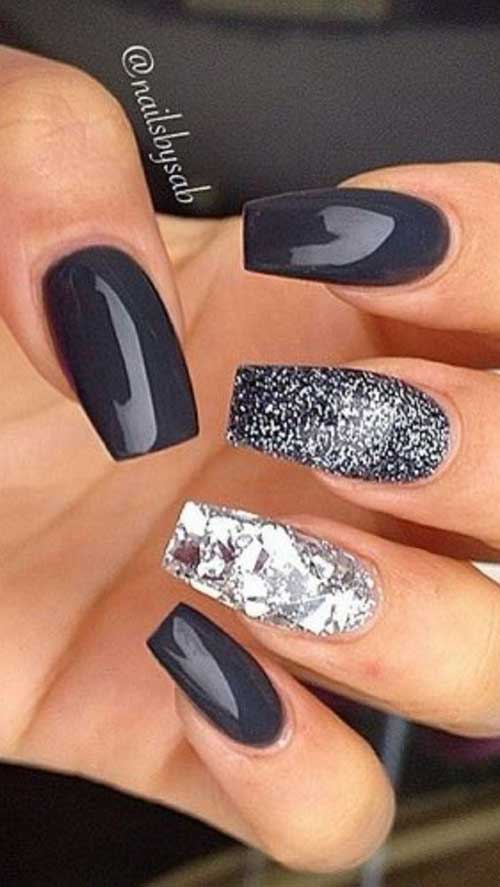 Long Coffin Shape Nail Arts-9
