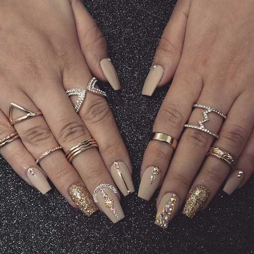 Long Coffin Nail Designs