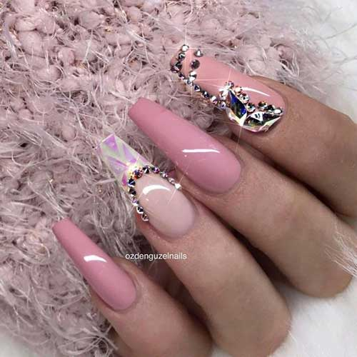 Long Coffin Shape Nail Arts