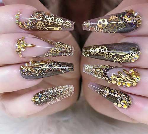 Steampunk Nail Designs