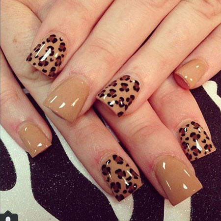 1 Cheetah Nail Design 307 Nail Art Designs 2017