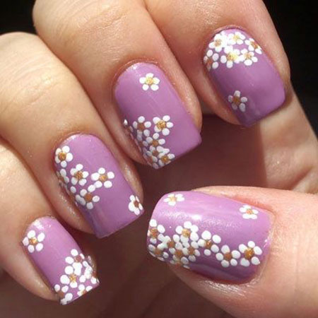 Easy Flower Nail Design, Flower Spring Very Cute
