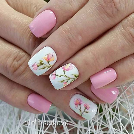 Flower Manicure Pink Light