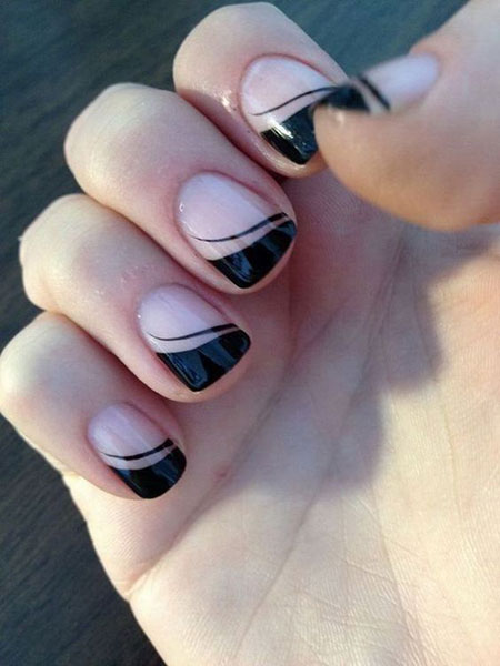 French Black Manicure