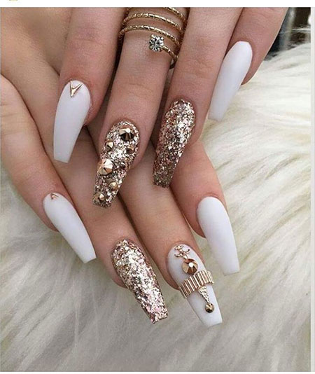 11-Long-White-Nails-Design-22 - 11-Long-White-Nails-Design-22 - Nail Art Designs 2017