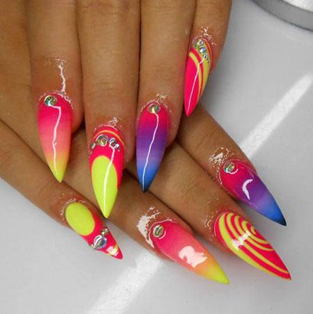 Summer Stiletto Neon Crazy