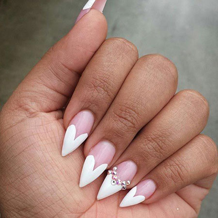 11 Valentine S Day Stiletto Nails 355 Nail Art Designs 2017