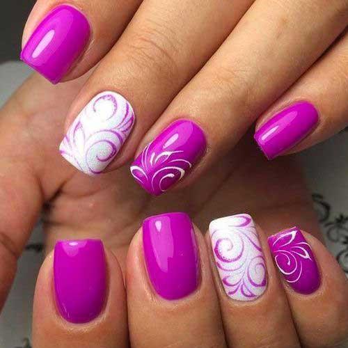 Vivid Colored Nail Arts-12