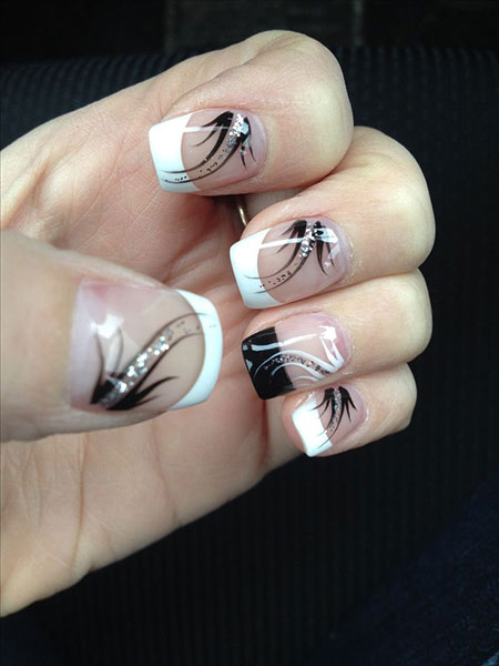 Black Manicure Style French