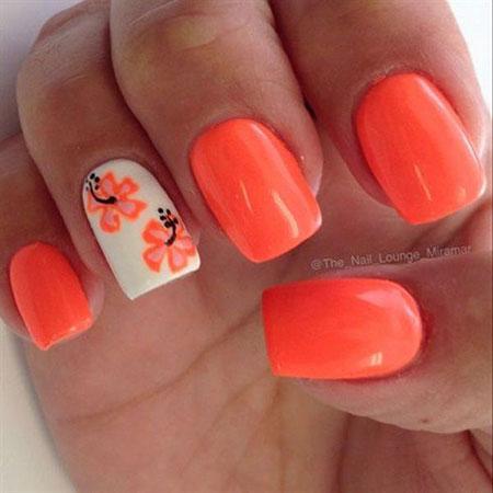 15 Easy Flower Nail Designs