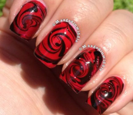 Rose Red Water Floral