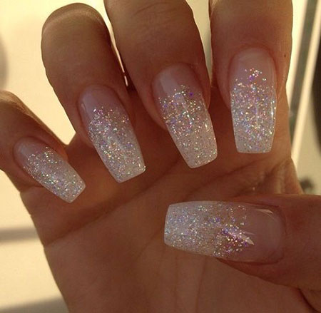 16 Glitter Fade Acrylic Nails 395