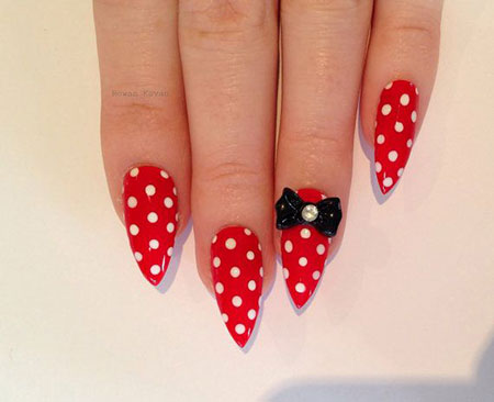 Mouse Minnie Red Pointy