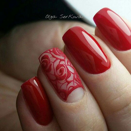 Manicure Rose Cute Flower