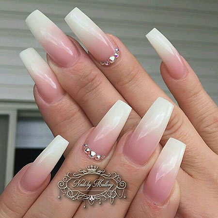 18 Pink And White Ombre Nails 422 Nail Art Designs 2017