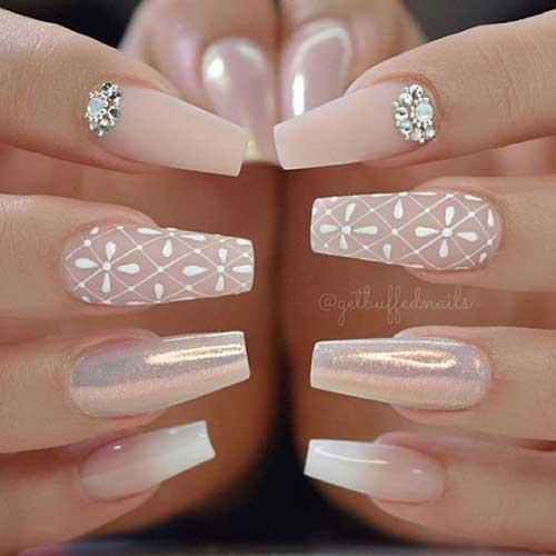 2018 Wedding Nail Designs-19
