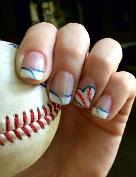 Cute Baseball Nails, Baseball Cute Tribal Halloween