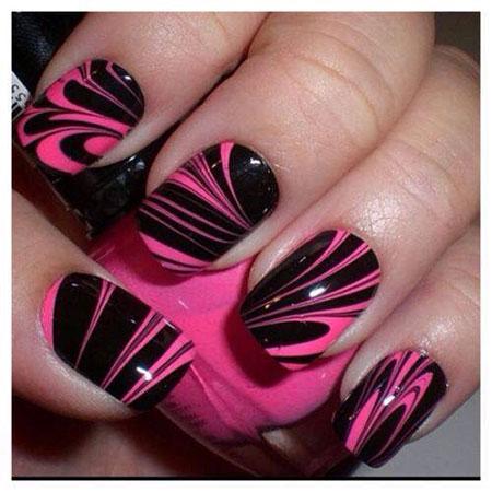Black Pink Water Marble
