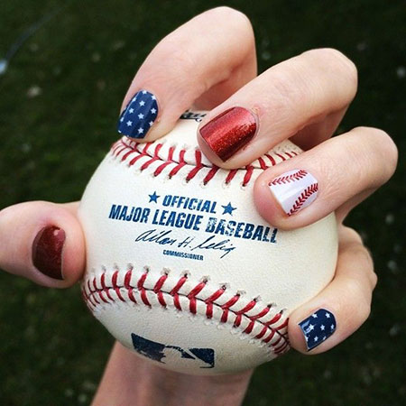 Cool Baseball Nail Art, Baseball Dna Mlb Psa