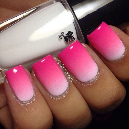 Pink Ombre Nail Design, Pink Ombre Love Beautiful