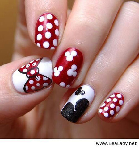 Cute Minnie Mouse Nails, Minnie Mouse Disney Week