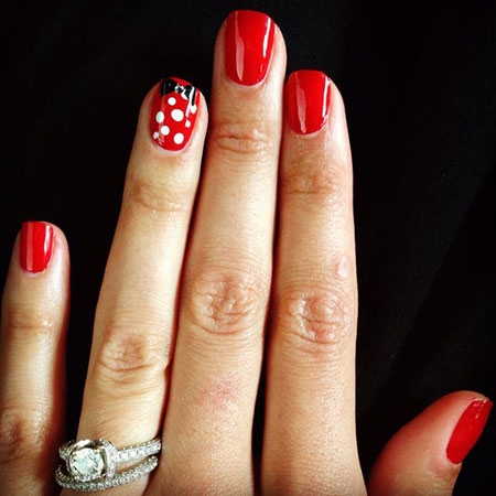 Walt Disney World Nail Design, Manicure Disney Mickey Gel